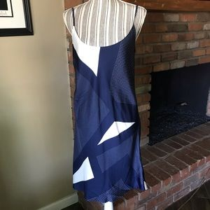 Equipment Femme Silk Geometric Slip Dress Sz M